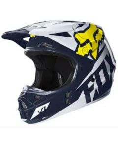 SALE Fox V1 Race SE White/Yellow/Blue