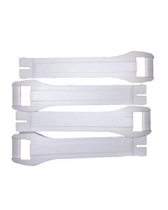GAERNE SGJ WHITE BOOT STRAPS - Pack of 4
