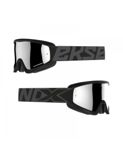 GOX Flatout Iridium Goggle Stealth Black