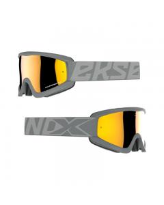 GOX Flatout Iridium Goggle Fighter Grey